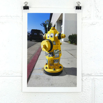 Photographic Print - Street Art Hydrant