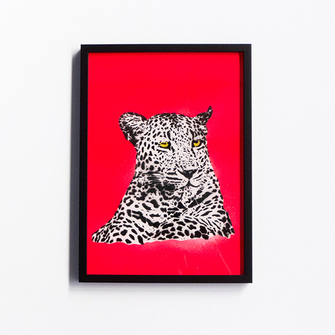 Component - Neon Leopard (Framed)